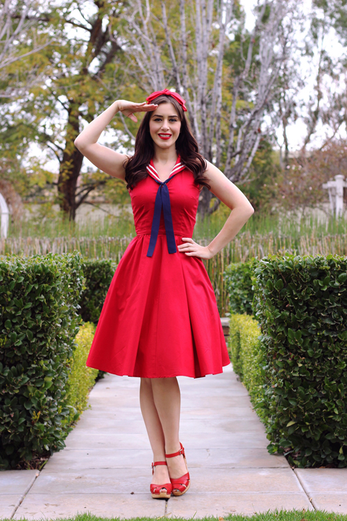 Trashy Diva Sailor Dress Southern California Belle
