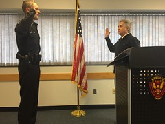 Swearing in of officers Austin Dietz and Blaine Anderson