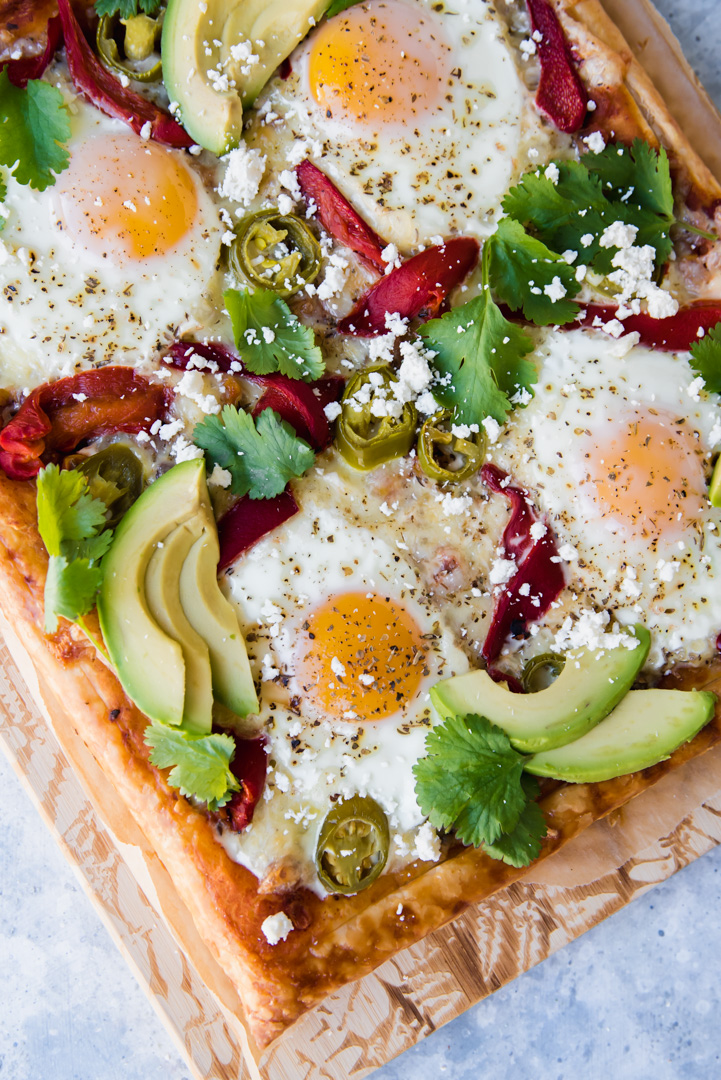 Puff Pastry Mexican Breakfast Pizza www.pineappleandcoconut.com #worldmarkettribe #discoverworldmarket