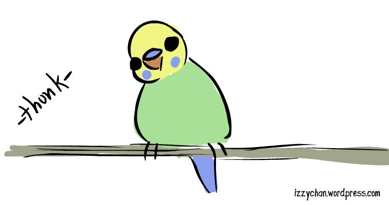 thunk budgie danger bird