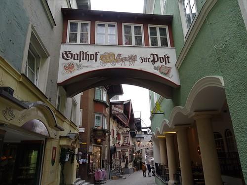Kufstein, Tyrol, state of Austria (the art of public places at the historic center of Kufstein) - Römerhofgasse
