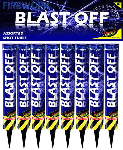 Blast Off Shot Tubes by Standard Fireworks