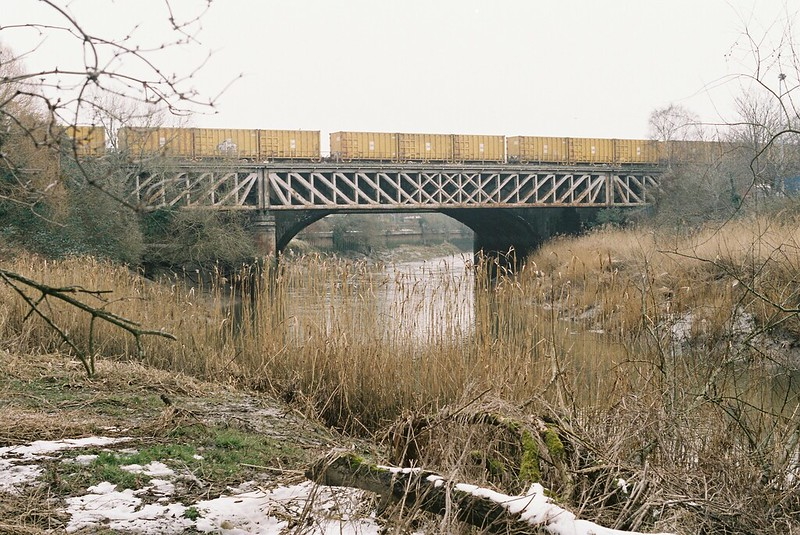 The railway line to London from the closed Avon path