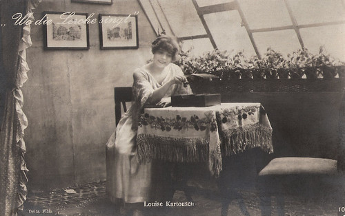 Louise Kartousch in Wo die Lerche singt (1918)