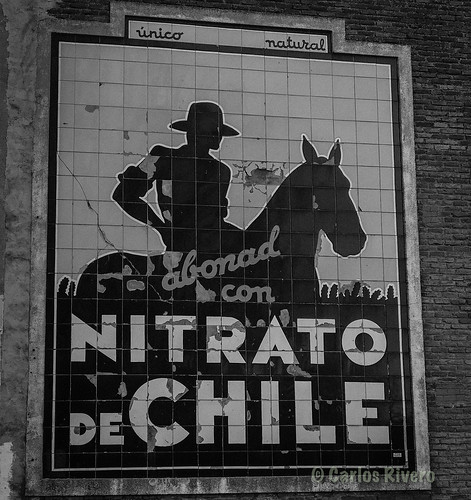 Mosaico publicitario del Nitrato de Chile.  (primer tercio del SXX)