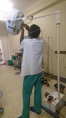 Surgical lamp repair - Mbarara
