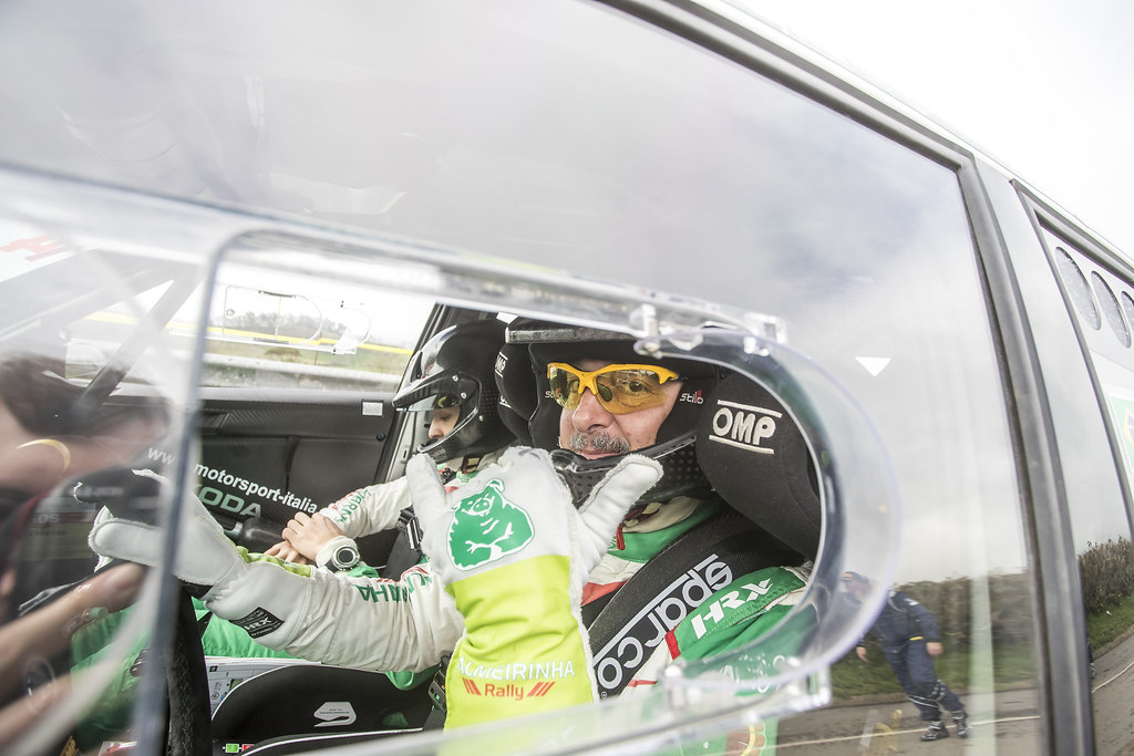 14 NOBRE Paulo (bra), MORALES Gabriel (bra), PALMEIRINHA RALLY, SKODA FABIA R5, portrait during the 2018 European Rally Championship ERC Azores rally,  from March 22 to 24, at Ponta Delgada Portugal - Photo Gregory Lenormand / DPPI