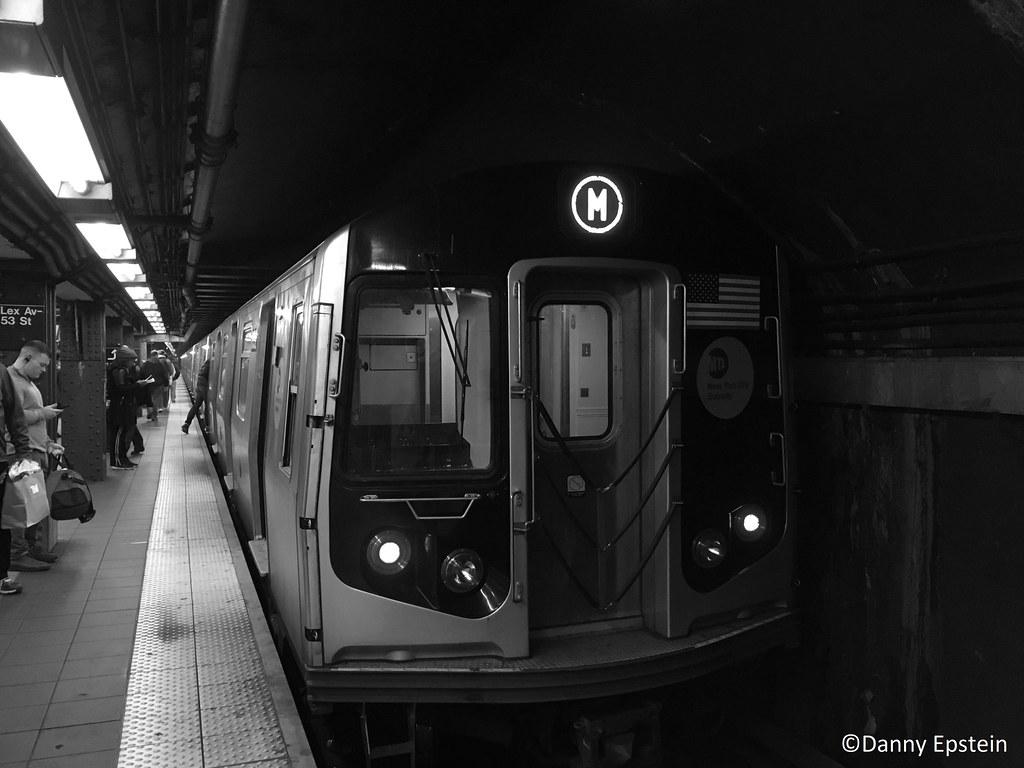 R-160 (M) train at Lex-Av 53rd street