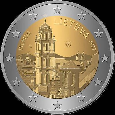 2 Euro Litva 2017, Vilnius