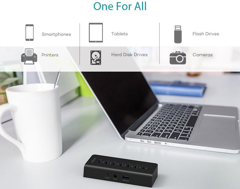 dodocool 7ポート USBハブ 写真 (3)