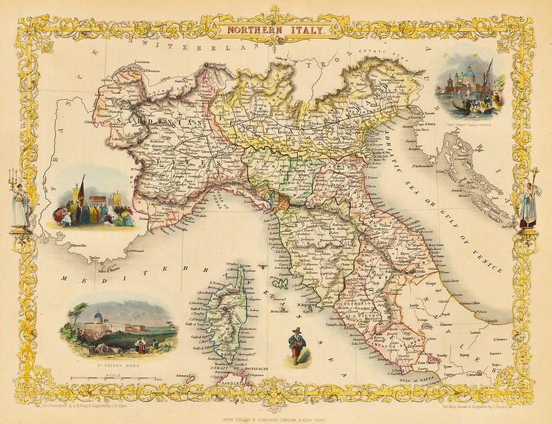 John Tallis - Northern Italy (1851)