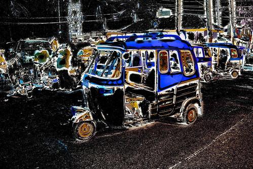 India - Goa - Palolem - Streetlife - Auto Rickshaw - 231dd