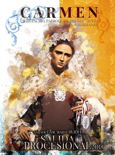 Cartel de la salida procesional de la Virgen del Carmen