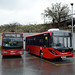 Go Ahead Metrobus 610 (YM55SXD) on Route 181 and Stagecoach London 36677 (YY67UTW)
