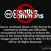 End of Creative Commons Licensing