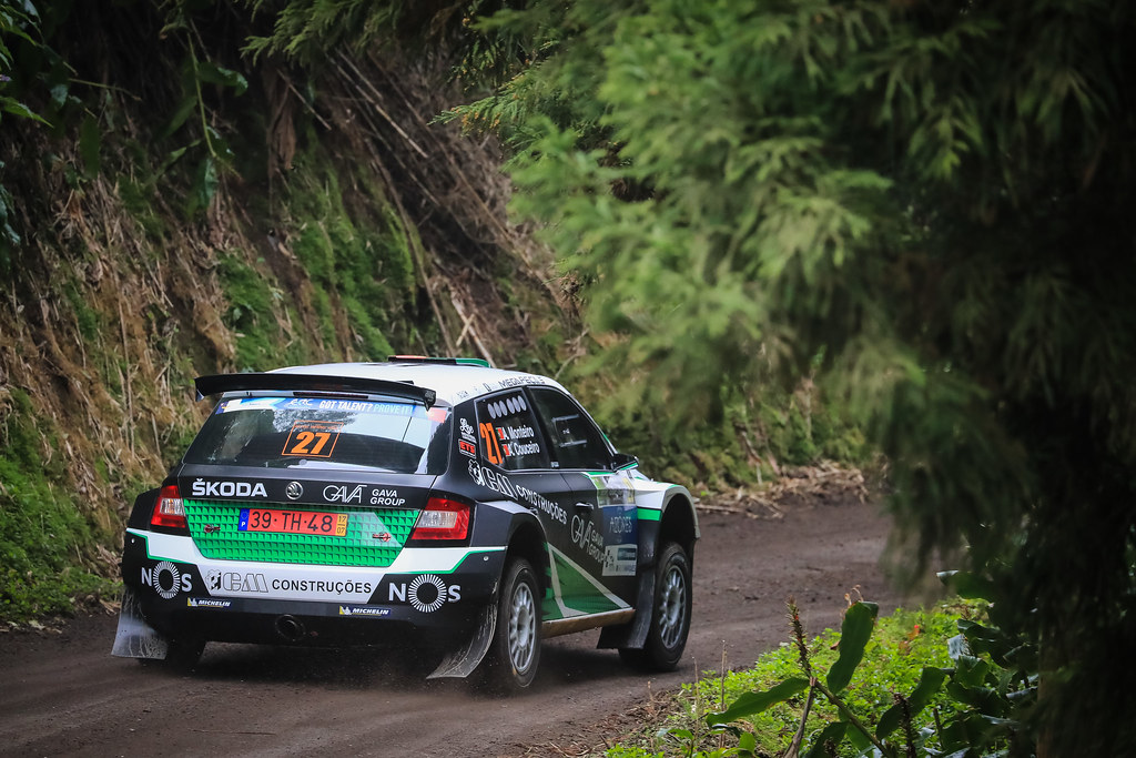 27 MONTEIRO Aloisio (prt), COUCEIRO Andrei (prt), SKODA FABIA R5, action during the 2018 European Rally Championship ERC Azores rally,  from March 22 to 24, at Ponta Delgada Portugal - Photo Jorge Cunha / DPPI