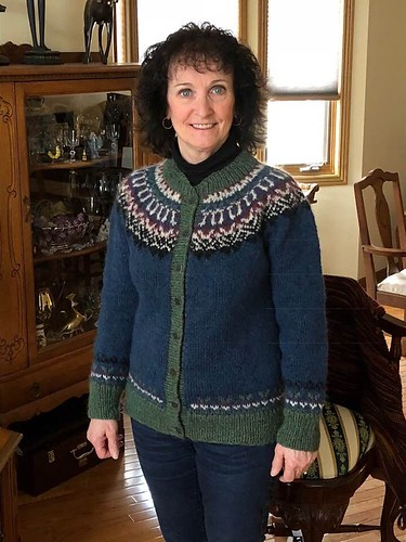 Jean's Glaswegian Cardigan by Amy Christoffers knit for the Berroco-Lopi KAL