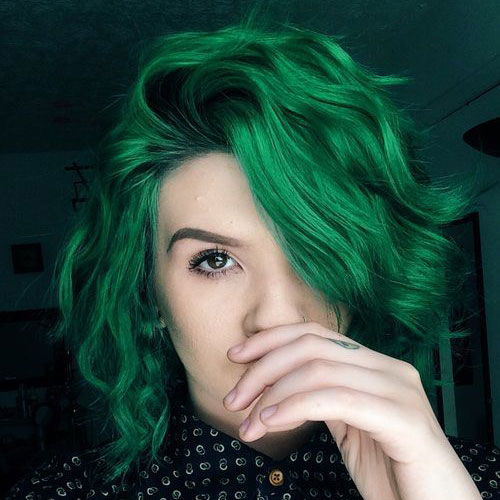 Top 20 Glamorous Green Hairstyle Ideas For 2018