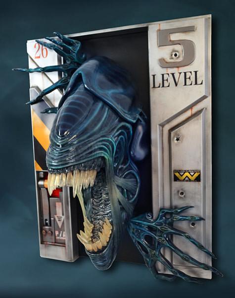 求求你乖乖待在裡面,別出來啊~~ Hollywood Collectibles Group《異形2》異形女王 Alien Queen 1:1 比例壁雕作品 普通版/HCG限定版
