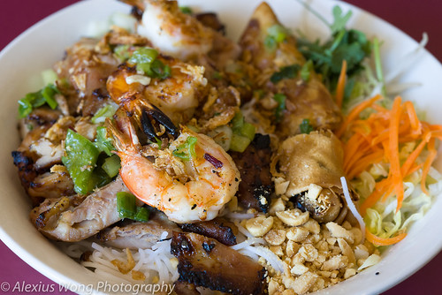 Shrimp, Chicken, Spring Roll Bun Salad, Anh Dao, Washington DC