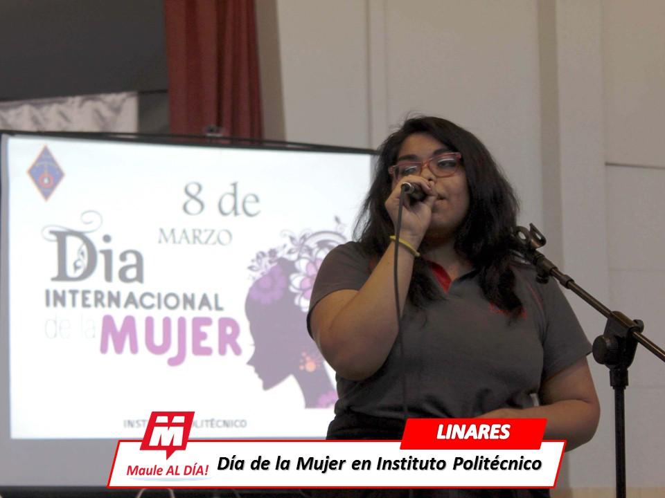 LINARES; Instituto Politécnico destacó rol histórico de la Mujer en conmemoración de su Día