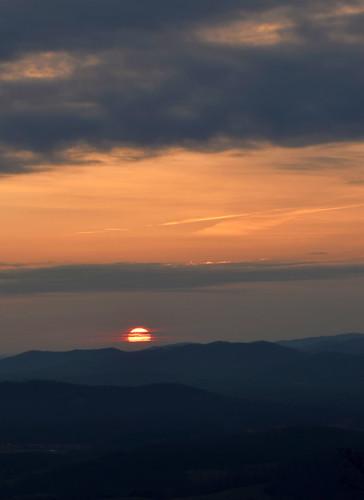 sunrise mountains blueridge virginia outdoors clouds sky