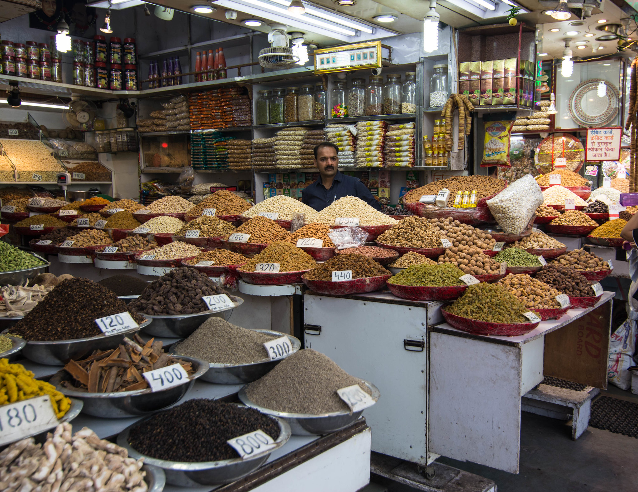 Walking in spice market