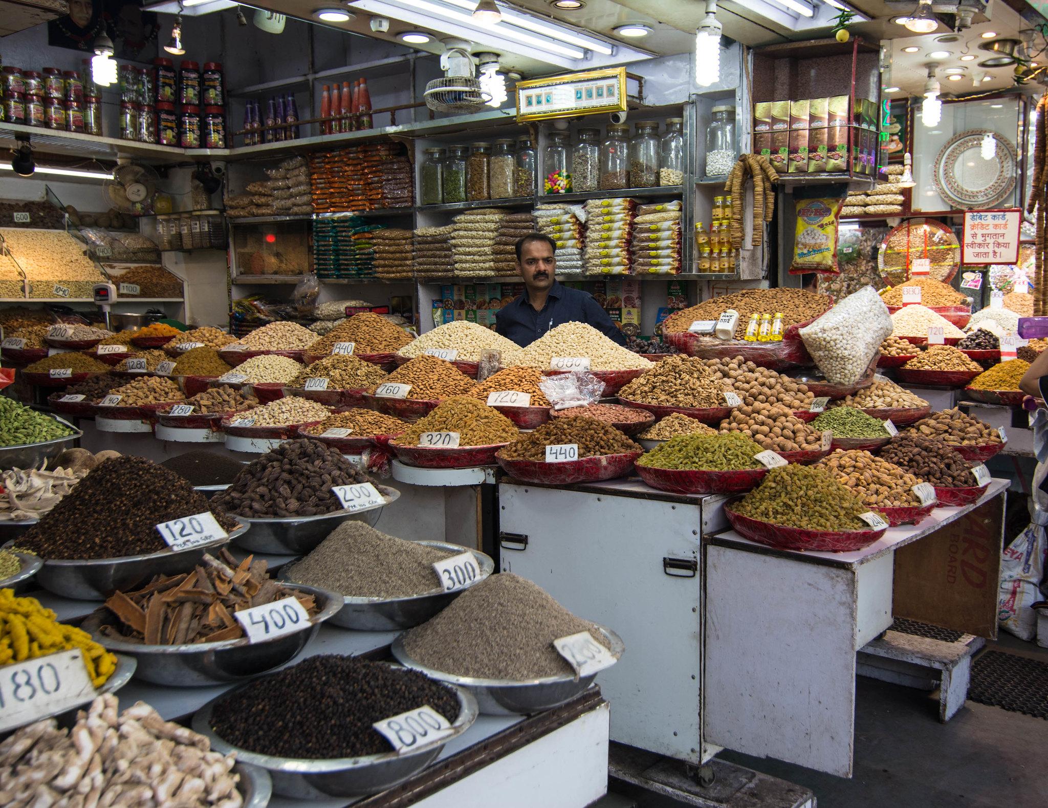 Walking in spice market