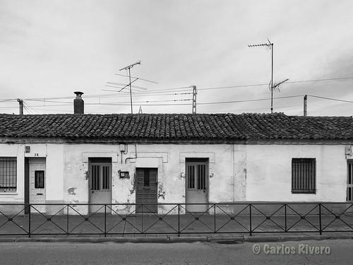 Antiguas casas populares de Guadalajara.