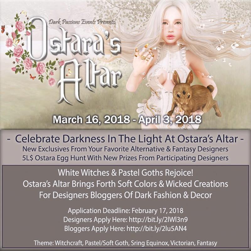 Ostara's Altar Event Poster 2018 - Blogger List!