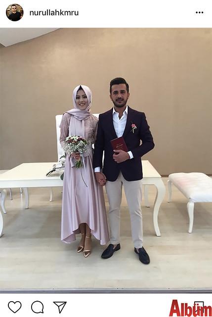 Baymak Alanya Bayii klima ustalarından Nurullah Kumru ile nişanlısı Berna Boz, bir ömür mutluluğa 'Evet' diyerek nikahlandı.