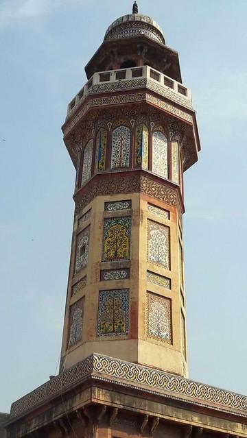 Minaret of Wazir Khan Mosque.