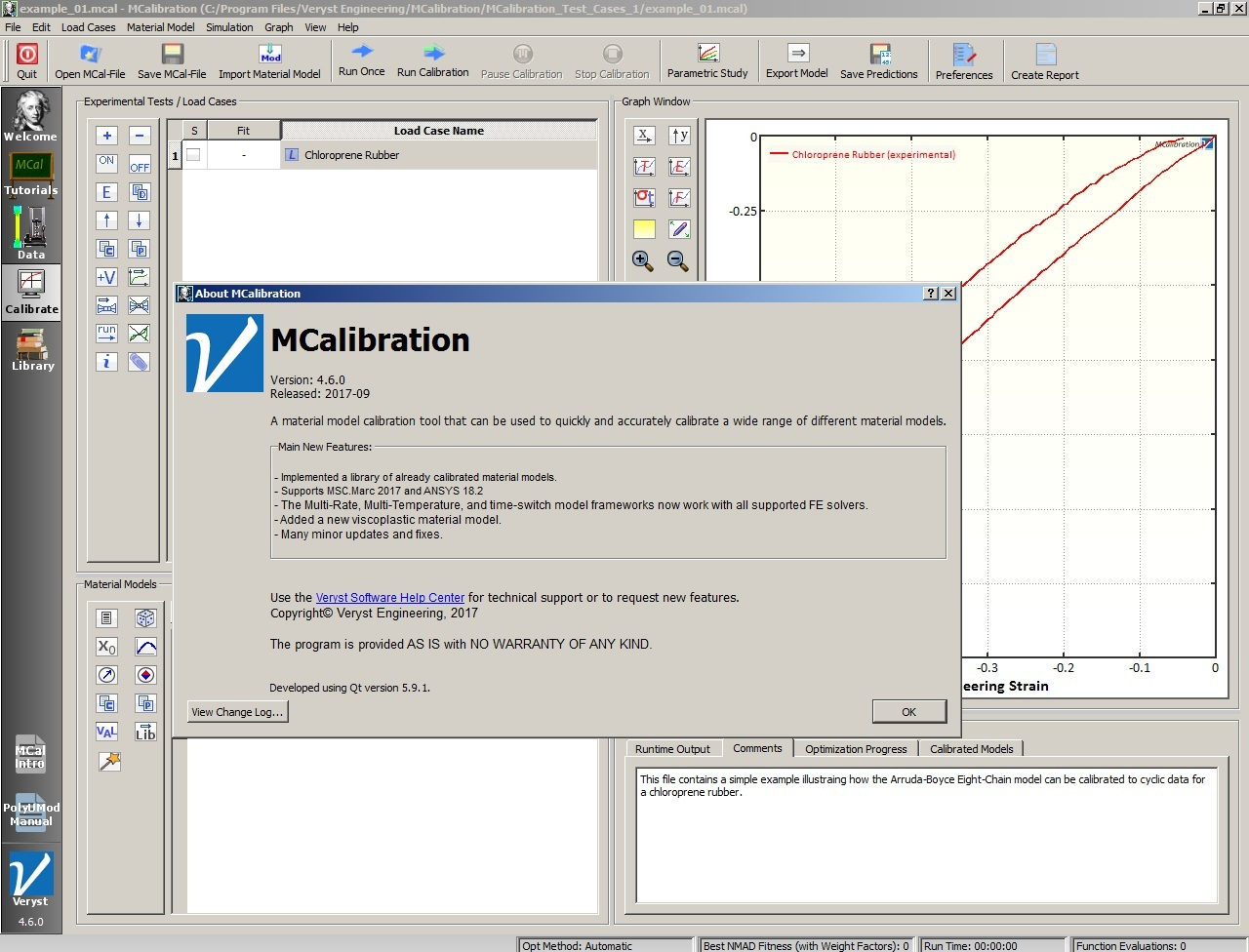 Working with Veryst Engineering PolyUMod 4.6.0 full license