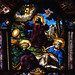 Patrixbourne, Kent, St. Mary's, chancel, stained glass window, Jesus in the garden of Gethsemane, detail