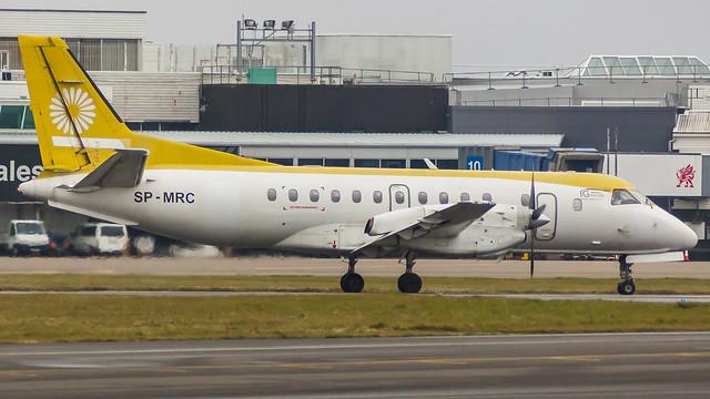 SP-MRC - SkyTaxi Poland sb340 @ Cardiff Airport 170318
