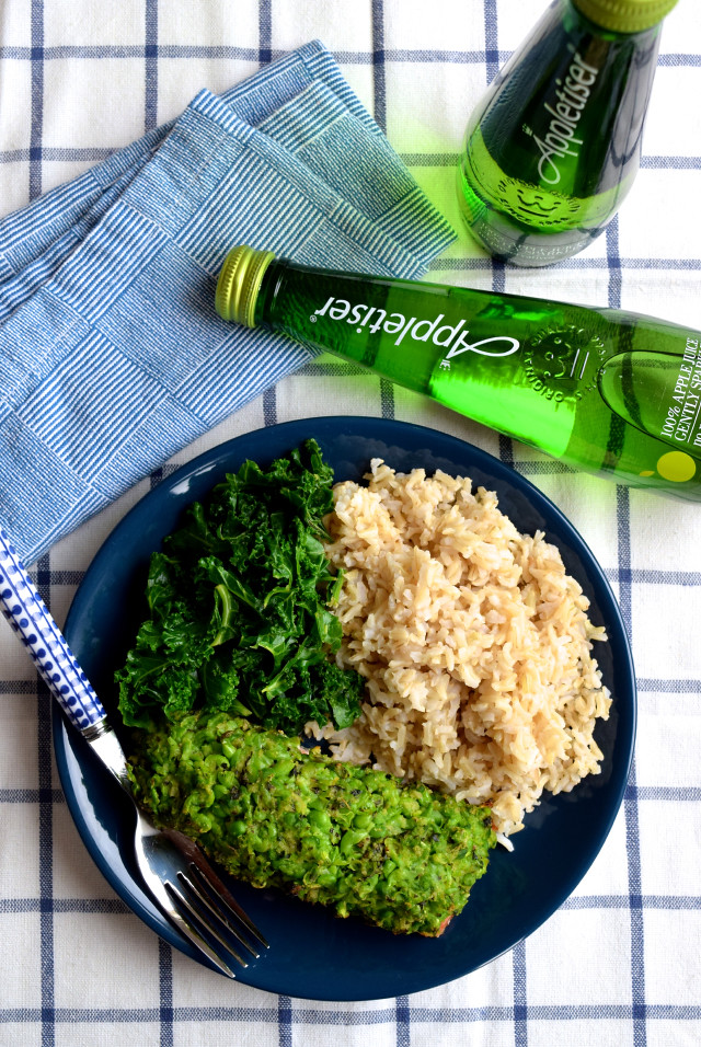Pea & Mint Crusted Salmon with Appletiser