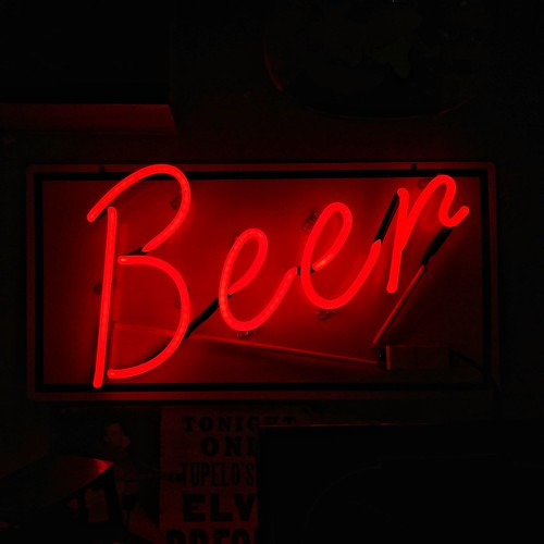 Neon Sign - Beer- Combs BBQ Central - Middletown, Ohio