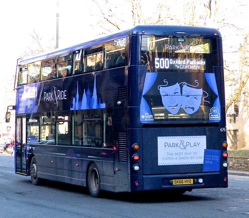 SK66 HVD 'City of Oxford' No. 679 'Park&Ride'. Wright Streetdeck on Dennis Basford's railsroadsrunways.blogspot.co.uk'