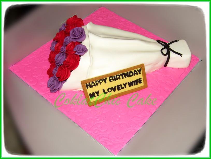 Cake Bunga LOVELY WIFE 30 cm