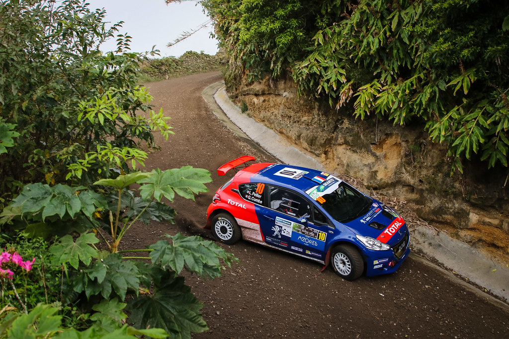 10 PELLIER Laurent (fra), COMBE Geoffrey (fra), PEUGEOT RALLY ACADEMY, PEUGEOT 208 T16, action during the 2018 European Rally Championship ERC Azores rally,  from March 22 to 24, at Ponta Delgada Portugal - Photo Jorge Cunha / DPPI