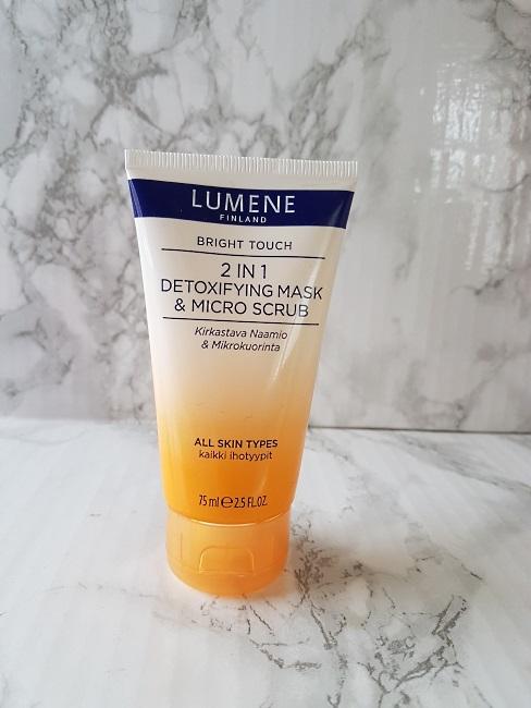 lumene 2 in 1 detoxifying mask and micro scrub