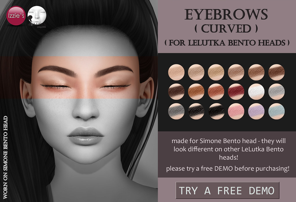 Lelutka Eyebrows curved - TeleportHub.com Live!