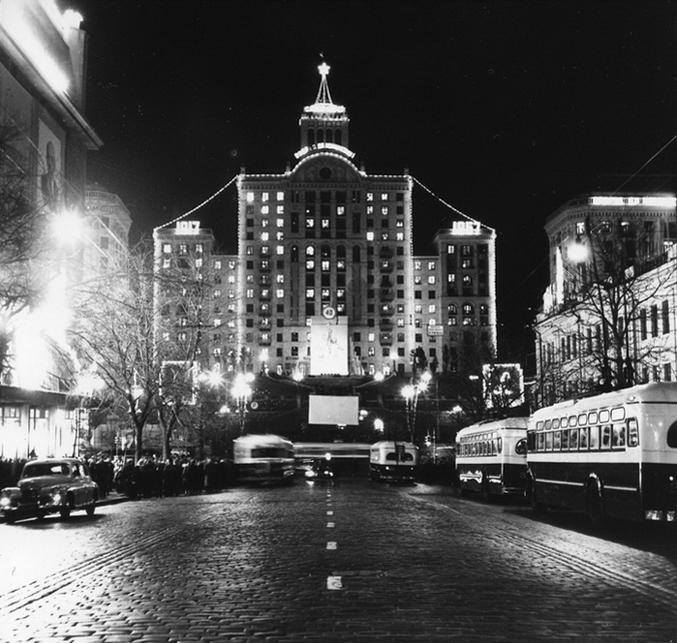 Праздничная иллюминация на Крещатике, 1957-й год