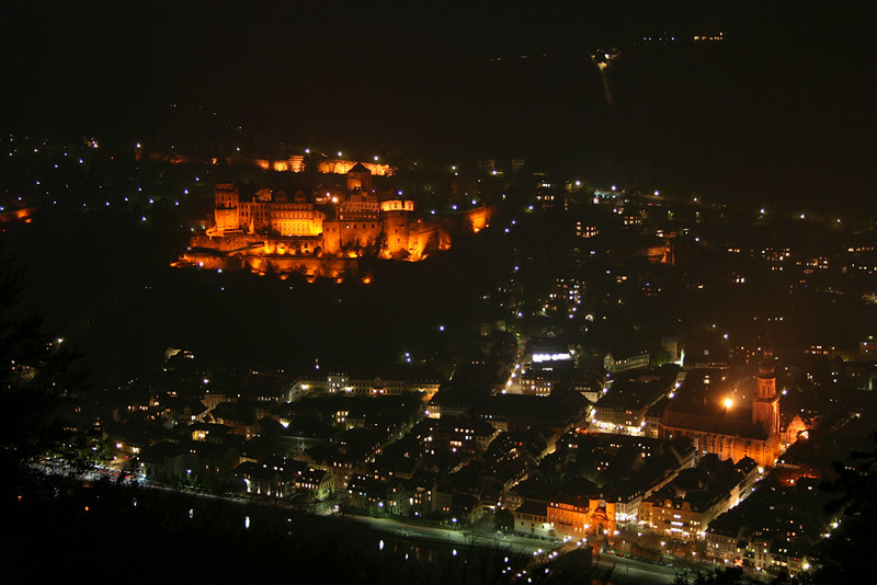 Heidelberg by night