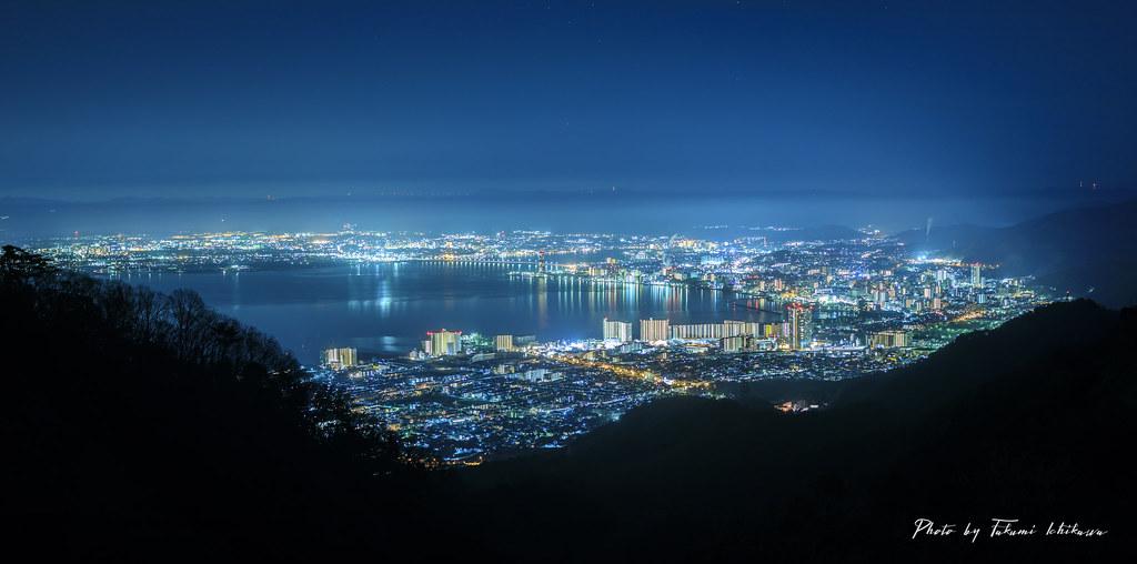 比叡山より大津市街を望む