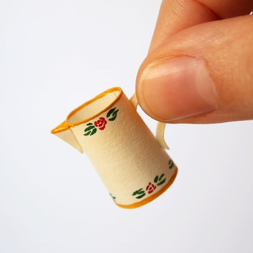 3D Illustrated Miniature Paper Pitcher by Mar Cerdà