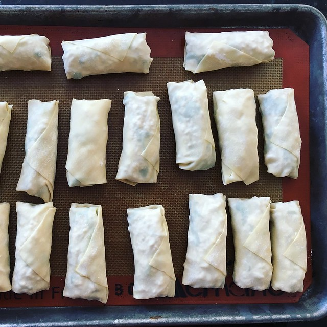 Eggrolls wrapped