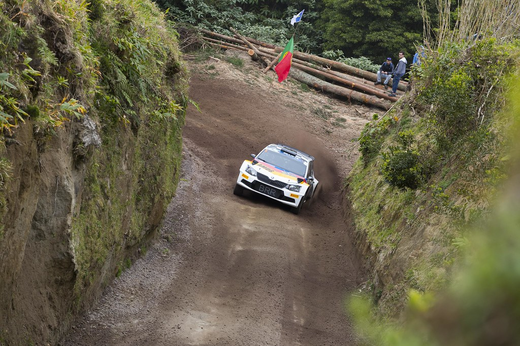 05 VON THUR UND TAXI Albert (deu), DEGANDT Bjorn (bel), SKODA FABIA R5, action during the 2018 European Rally Championship ERC Azores rally,  from March 22 to 24, at Ponta Delgada Portugal - Photo Gregory Lenormand / DPPI