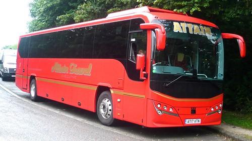 AT17 ATN 'Attain Travel'. Volvo B8R / Plaxton Leopard on 'Dennis Basford's railsroadsrunways.blogspot.co.uk'