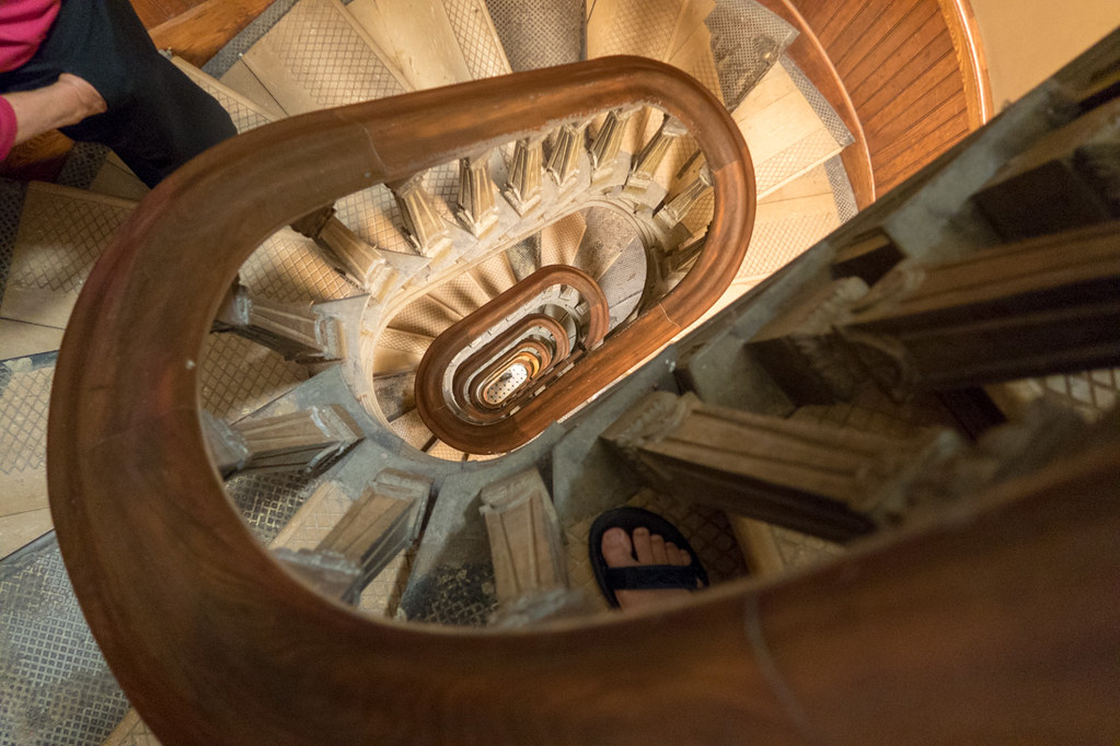 Staircase to the top of the rotunda at the Iowa Capitol Building in Des Moines